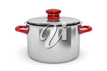 Cooking pot on white background