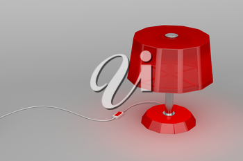 Red lamp illuminates on gray background
