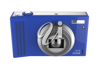 Front view of digital photo camera