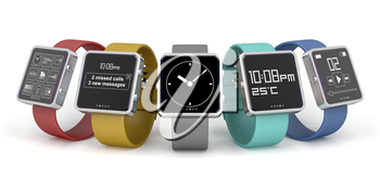 Royalty Free Clipart Image of a Smart Watches