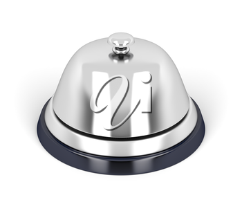 Royalty Free Clipart Image of a Silver Bell