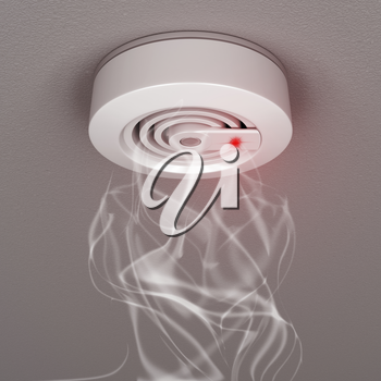 Royalty Free Clipart Image of a Smoke Detector