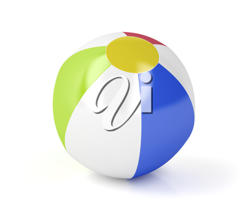Beach ball on white background