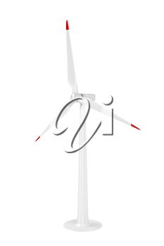 Wind turbine isolated on white background