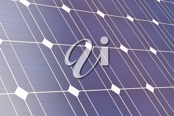 Closeup of solar panel, 3D illustration