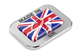 Made in United Kingdom badge on white background