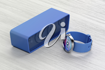 Playing music from the smartwatch on the wireless speaker