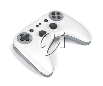 Wireless game controller on white background