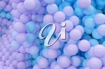 Glossy balls gather together, abstract background, 3d rendering. Computer digital drawing.