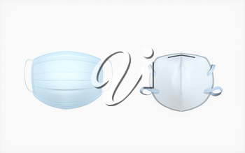 Mask with white background, medical concept, 3d rendering. Computer digital drawing.