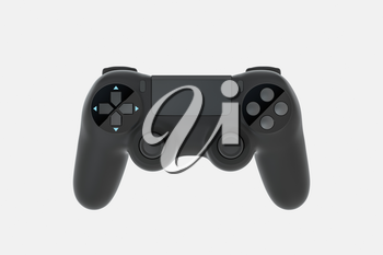 Classic game pad with white background, 3d rendering. Computer digital drawing.