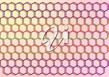 Royalty Free Clipart Image of a Background of Honeycombs