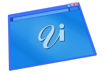 Royalty Free Clipart Image of a Browser Window