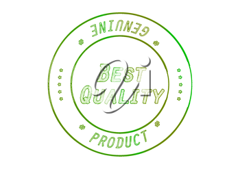 Rubber stamp BEST Quality Product. 3D illustration.