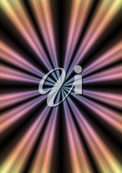 Abstract star burst trendy retro background. 3D illustration.