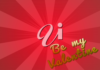Be my Valentine. 3D rendering