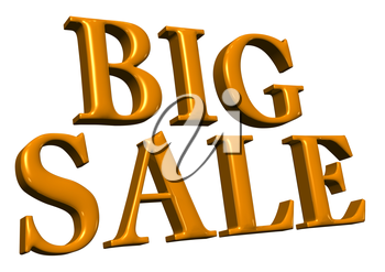 Royalty Free Clipart Image of Big Sale