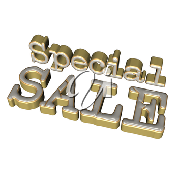 Glossy three-dimensional inscription Special Sale as a sign.