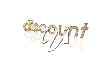 Word discount made from many percentage symbols.