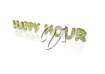 Word Happy hour made from many percentage symbols.