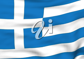 Image of a waving flag of Greece