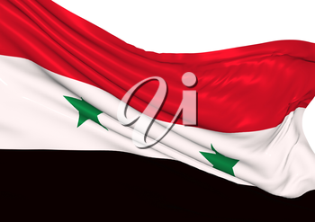 Image of a waving flag of Syria