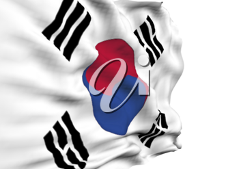 Image of a waving flag of Korea