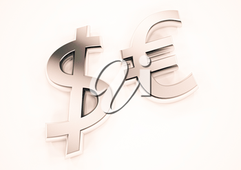 International economy currency units: euro and dollar