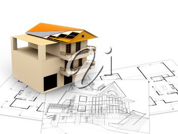 Royalty Free Clipart Image of a Apartment Plan