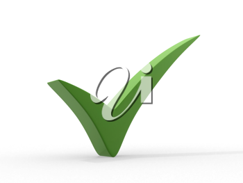 Royalty Free Clipart Image of a Green Checkmark