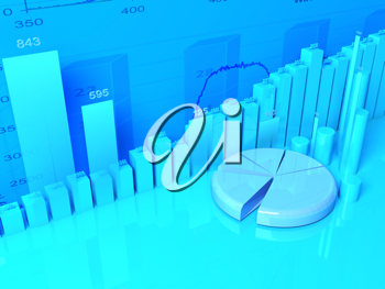 Royalty Free Clipart Image of a Background and Graphs