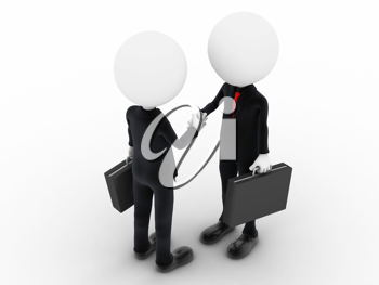 Royalty Free Clipart Image of Businessmen Shaking Hands