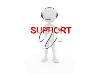 Royalty Free Clipart Image of a Support Person