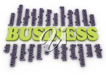 3d image Business concept word cloud background