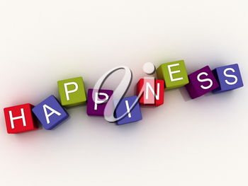 3d image Happiness  issues concept word cloud background