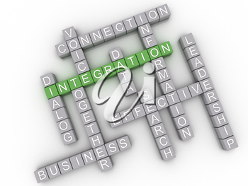 3d image Integration issues concept word cloud background