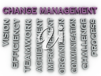 3d image change management   issues concept word cloud background