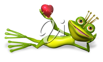 abstract illustration of the green frog princess