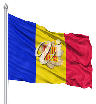 Royalty Free Clipart Image of the Flag of Andorra