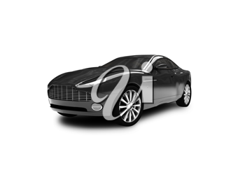 Royalty Free Clipart Image of an Aston Martin