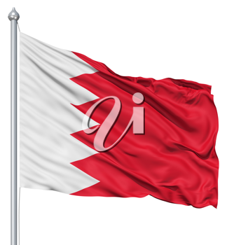 Royalty Free Clipart Image of the Flag of Bahrain