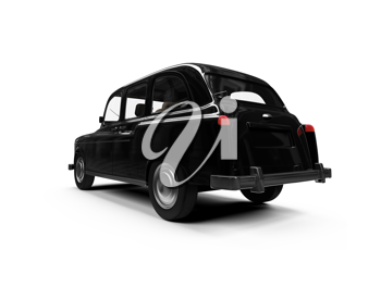 Royalty Free Clipart Image of a Black Car