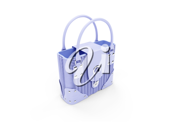 Royalty Free Clipart Image of a Blue Purse