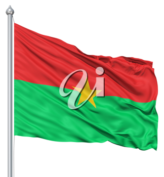 Royalty Free Clipart Image of the Flag of Burkina Faso