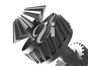 Royalty Free Clipart Image of a Gear