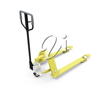 Royalty Free Clipart Image of a Pallet Lifter