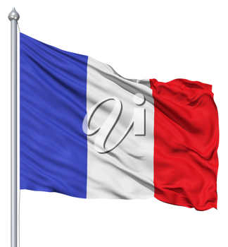 Royalty Free Clipart Image of a Flag of France