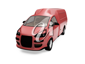 Royalty Free Clipart Image of a Cargo Van