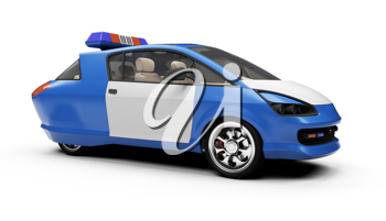 Royalty Free Clipart Image of a Police Car