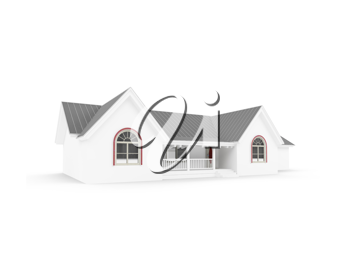 Royalty Free Clipart Image of a House